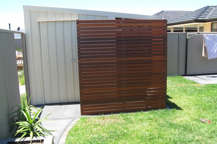Small shed feature wall.