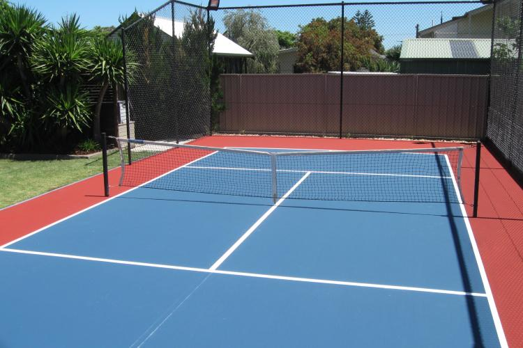 New resurface of ten year old court