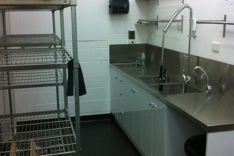 Commercial kitchen sink installation in Adelaide, SA.