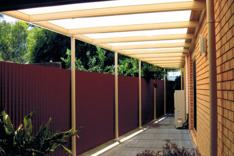 Affordable pergola with uniform appearance to match house.
